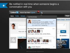 mentions op LinkedIn