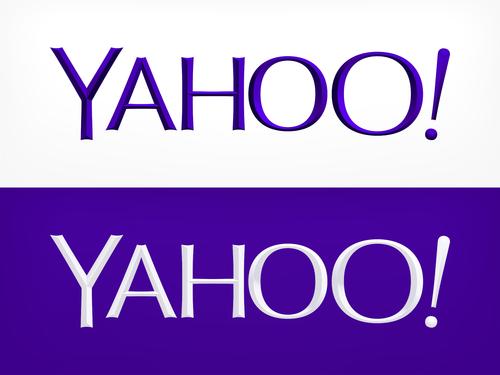 Nieuwe logo van Yahoo