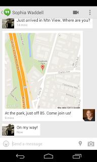 Google Hangout Locatie