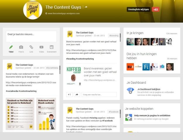 Google Plus The Content Guys